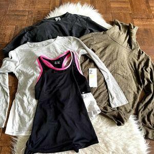 Zella Girls Large Lot of 4 Sweater Sweatshirt NWOT